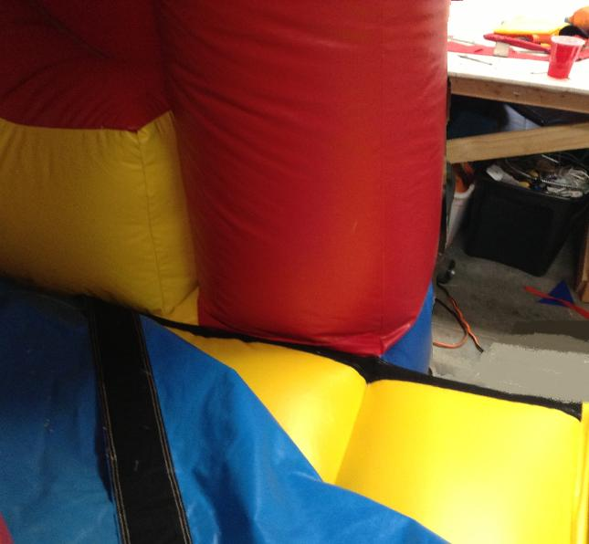 wall of bounce house